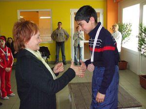 Gurmai Zsuzsa néni is gratulált az érmemhez.